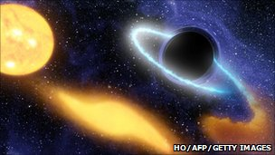 Artist's impression of a black hole