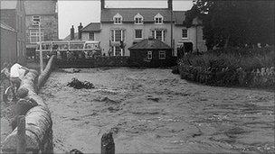 River Gele in flood 1971