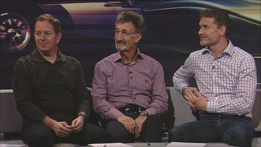 Martin Brundle, Eddie Jordan and David Coulthard