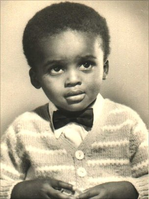Kriss Akabusi, as a child