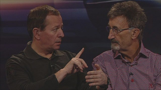 Martin Brundle and Eddie Jordan