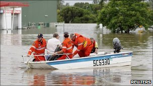 Flood rescue in Queensland