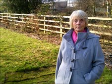 Kathleen Moxon in the green cemetery in Barnsley