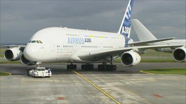 An Airbus A380