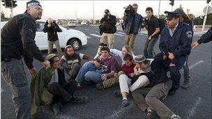Israeli police move settler activists