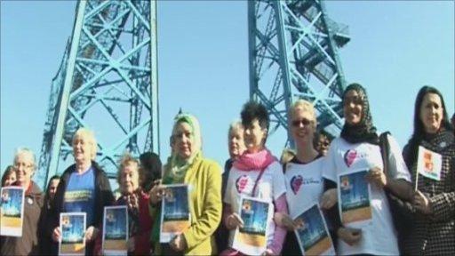 Women in Teesside took part in the event