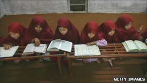 Pakistan children at a madrassa (file picture)