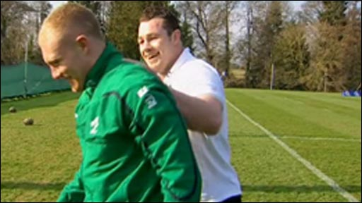 Keith Earls and Cian Healy
