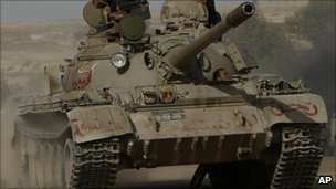 Rebel held main battle tank