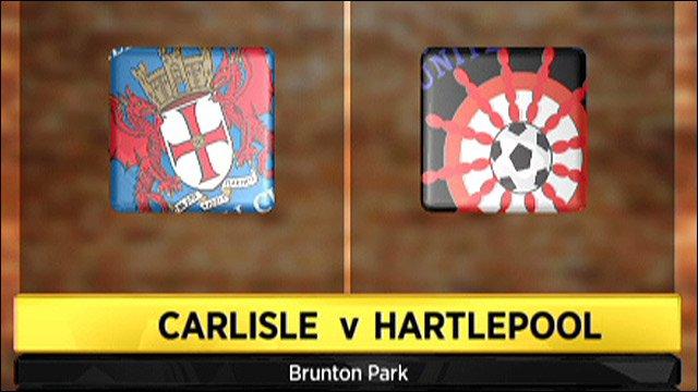 Carlisle v Hartlepool