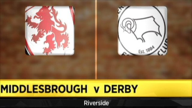 Highlights - Middlesbrough 2-1 Derby