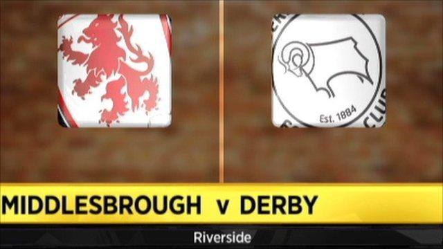 Highlights - Middlesbrough 2-1 Derby