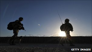 UK troops on patrol in Afghanistan