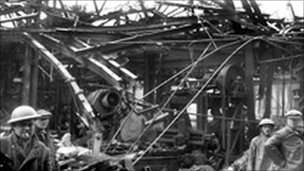 The factory was destroyed in the bombing