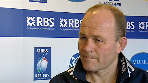 Scotland head coach Andy Robinson