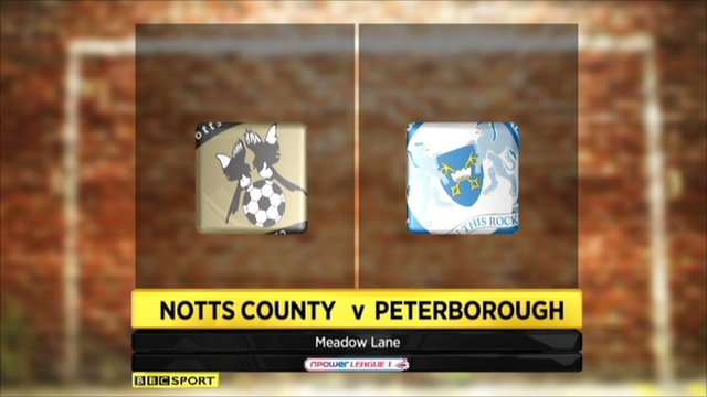 Highlights - Notts County 0-1 Peterborough