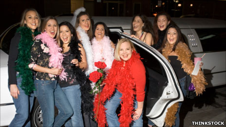 Group of girls on a hen party