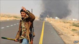Rebel near Sidra and Ras Lanuf, 10 March 2011