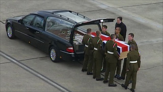 Repatriation of Lance Corporal Liam Tasker