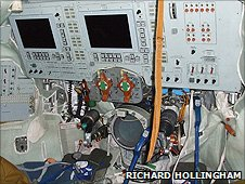 Controls inside Soyuz simulator