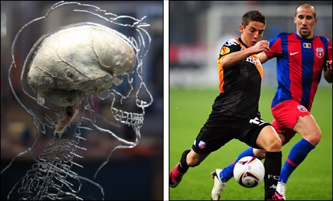 A real human brain being displayed as part of new exhibition at the @Bristol attraction and Dries Mertens in action