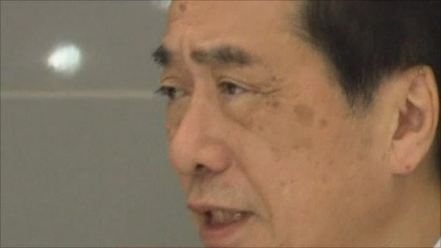 Japanese prime minister, Naoto Kan