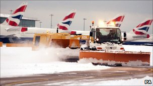Snow chaos at Heathrow