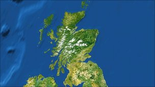 Satellite image Scotland