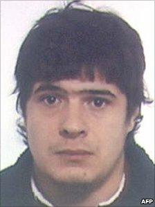 Suspected Eta leader Alejandro Zobaran Arriola (undated photo released by Spanish police)