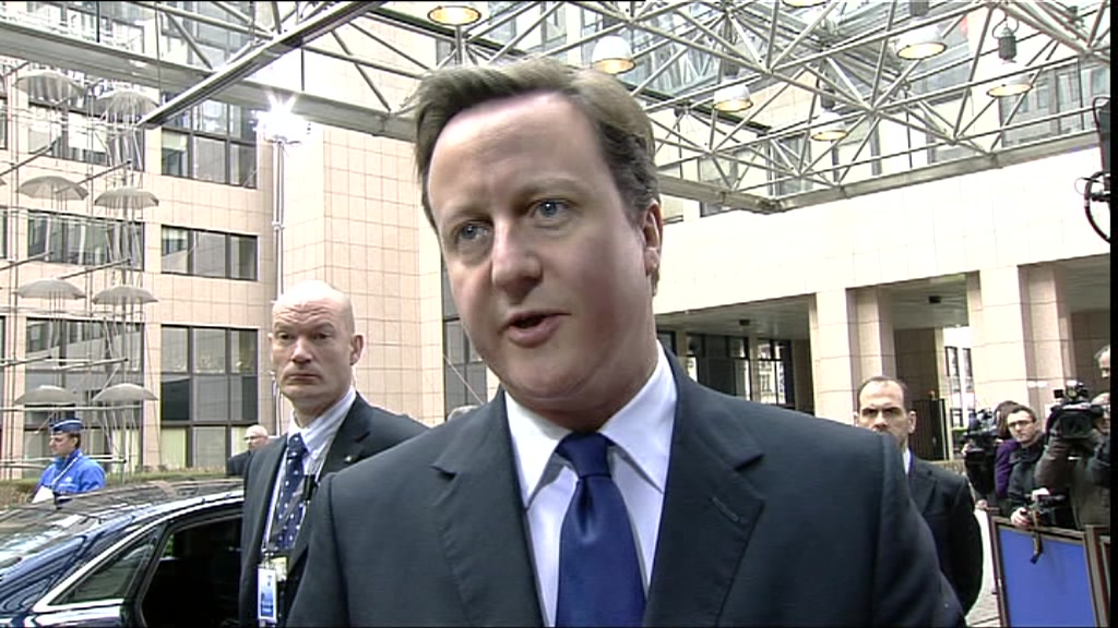 David Cameron responds to the earthquake in Japan