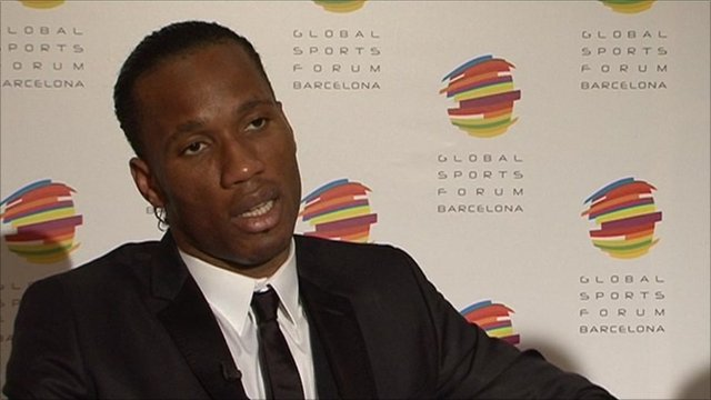 Drogba speaks to the BBC