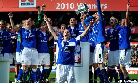 Everton celebrate their Cup final win