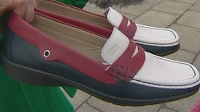 The limited edition red, white and blue loafers