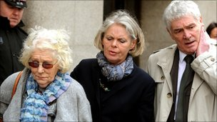 (from left) Daniel Morgan's mother Isobel Hulsmann, sister Jane Royds and brother Alastair Morgan