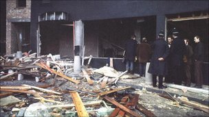 Scene after the bombings
