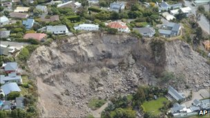 Christchurch earthquake scene