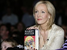 JK Rowling at the 'Harry Potter and the Deathly Hallows' launch