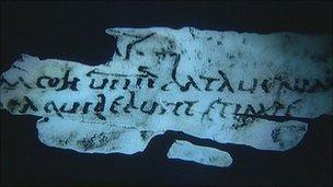 Roman writing tablets at Vindolanda