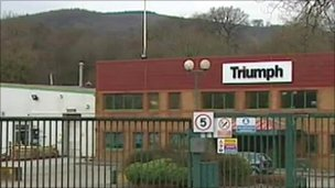 Triumph factory at Merthyr