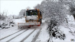 A snow plough in Scotland