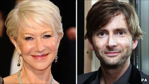 Dame Helen Mirren and David Tennant