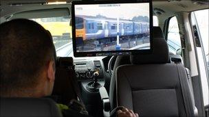 Northern Rail mobile CCTV