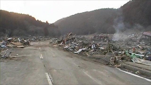 The devastation in Miyagi prefecture