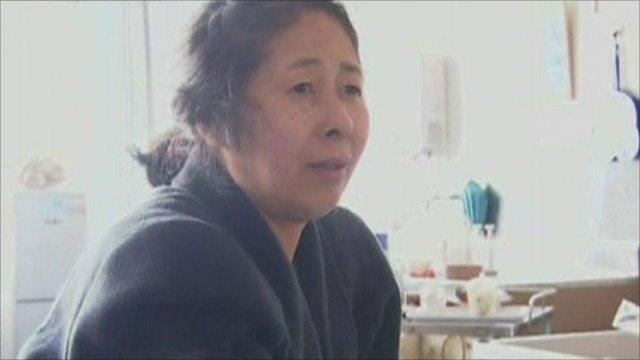 Woman who survived tsunami