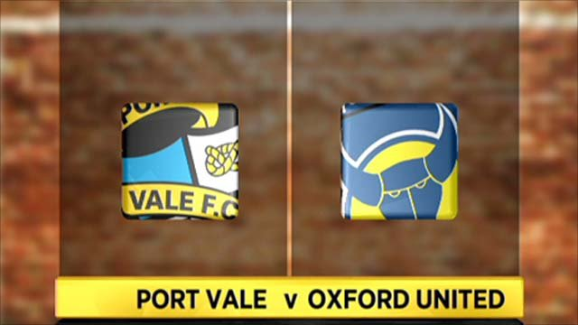 Highlights - Port Vale 1-2 Oxford Utd