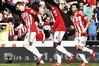 Stoke celebrate Huth's goal