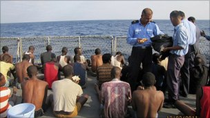 Indian navy captures 61 pirates on Mozambican ship