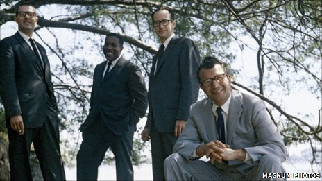 Magnum Photos. Joe Morello, Eugene Wright, Paul Desmond and Dave Brubeck (sitting)