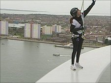 Spinnaker Tower 'rib' walk for Comic Relief