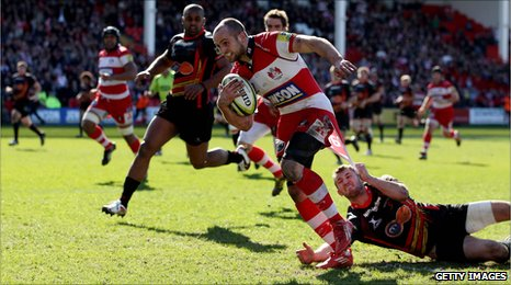 Charlie Sharples in action against Newport Gwent Dragons